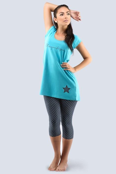 Pijama dama Star turcoaz