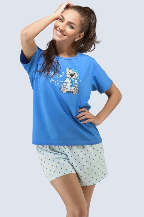 Pijama dama Teddy Blue
