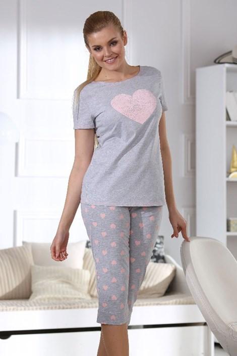 Pijama dama Hearts grey