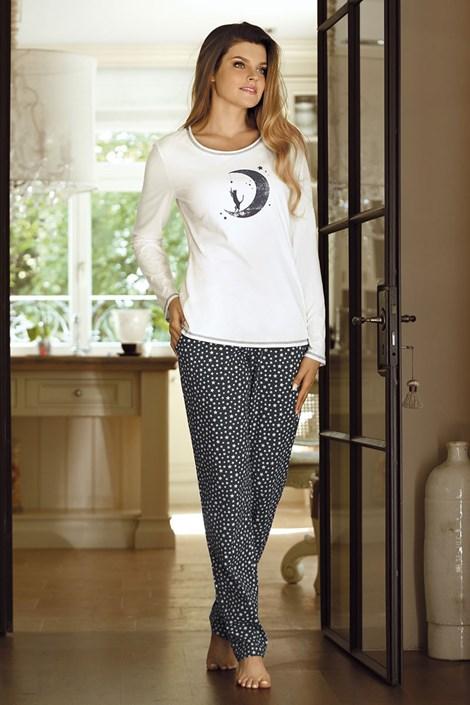 Pijama dama Moon grafit