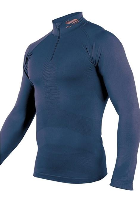 Bluza barbateasca cu guler din material functional