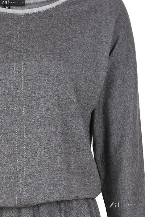 Rochie eleganta Altea Grey, material tricot