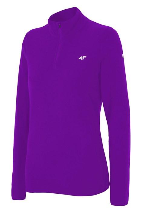 Bluza sport Violet de dama, material fleece