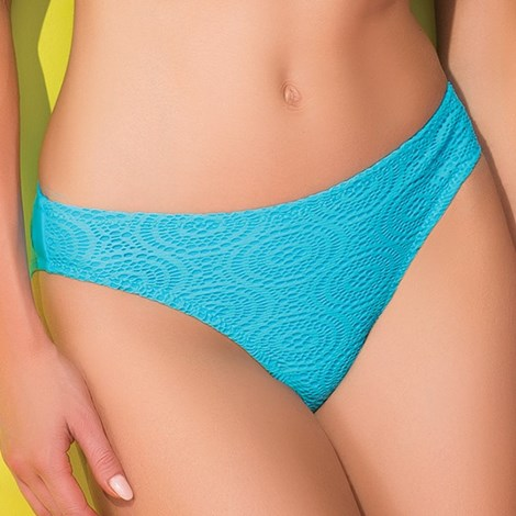 Slip costum de baie Strappy Blue