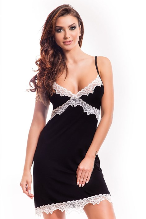 Camasa de noapte eleganta Madlen black