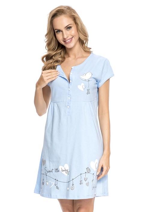 Camasa de noapte sarcina si alaptare Tamara Blue