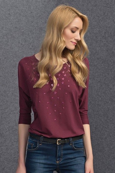 Bluza eleganta Tana Burgund