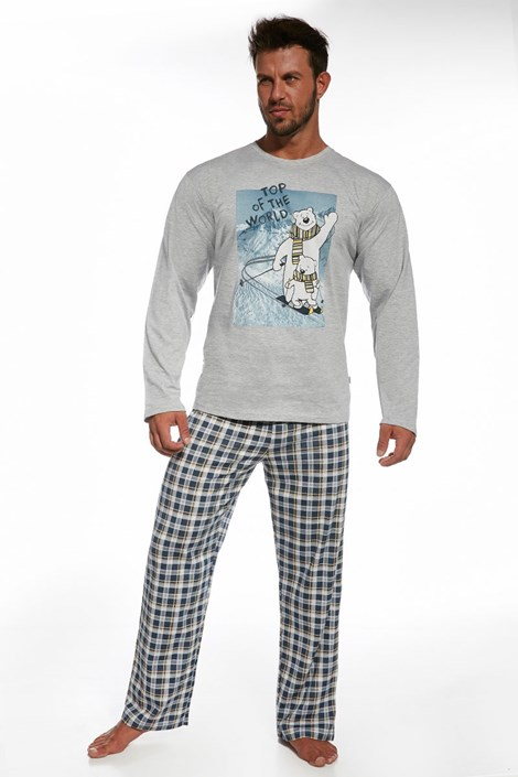 Pijama barbateasca Top of the world din bumbac