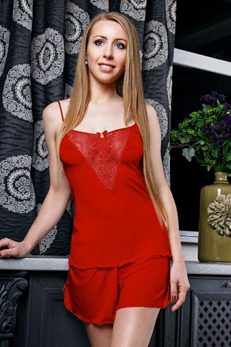 Pijama eleganta Venice Red