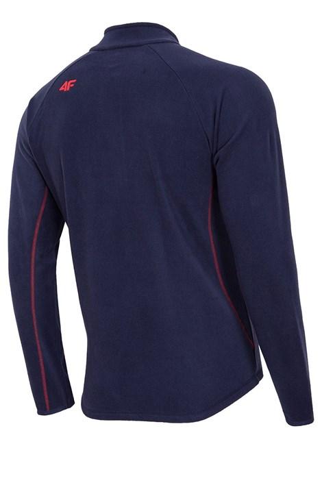Bluza barbateasca Navy 4f, din material fleece