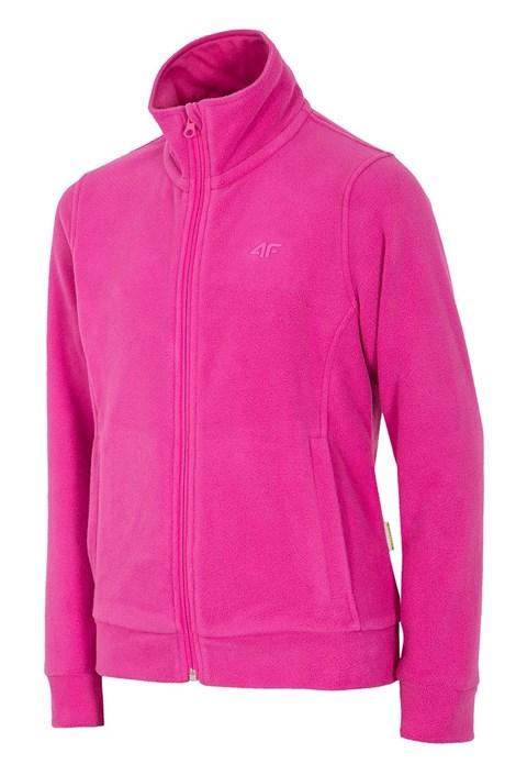 Bluza feece Pink 4F pentru fetite