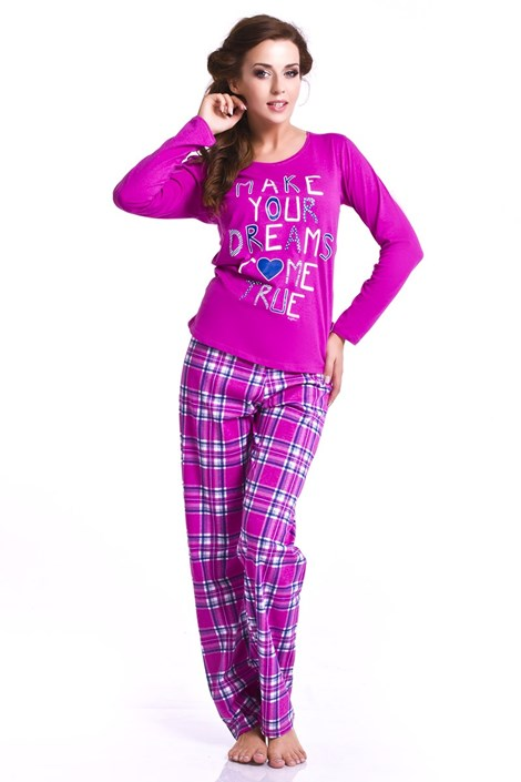 Pijama dama Orchid - roz inchis