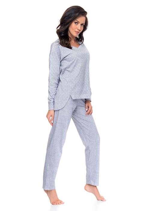 Pijama dama Melange din bumbac