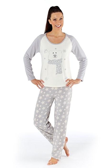 Pijama dama Polar bear, material calduros