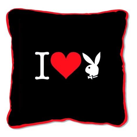 Pernita patrata I Heart Bunny neagra