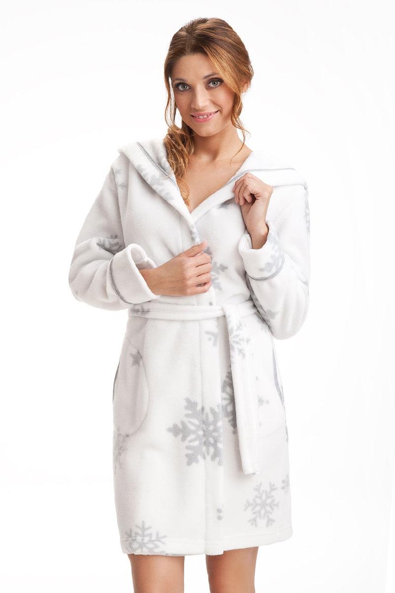 Capot dama Snowflakes White