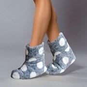 Papuci de casa caldurosi Darcy grafit