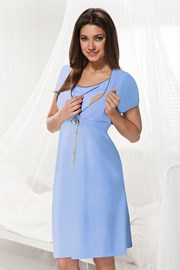 Camasa de noapte alaptare Dorota albastru