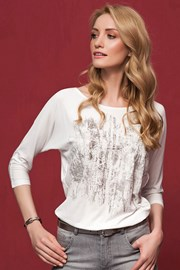 Bluza eleganta Kera White