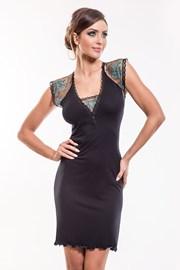 Camasa de noapte eleganta Leda Black