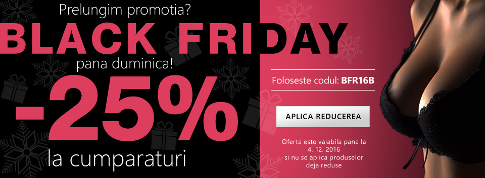 Black Friday 25 %.