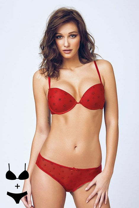 Set sutien cu efect Push-Up si chilot 4394v2