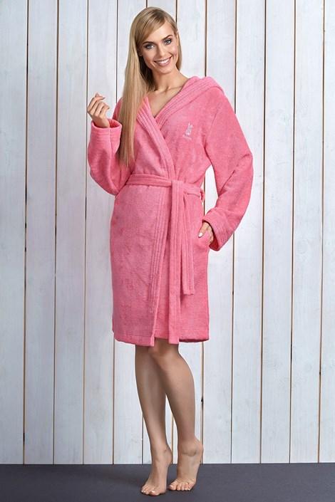 Capot dama Alba Pink, cu fibre de bambus