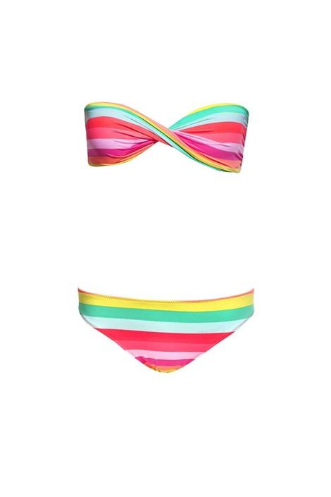 Sutien costum de baie Pastel Stripes