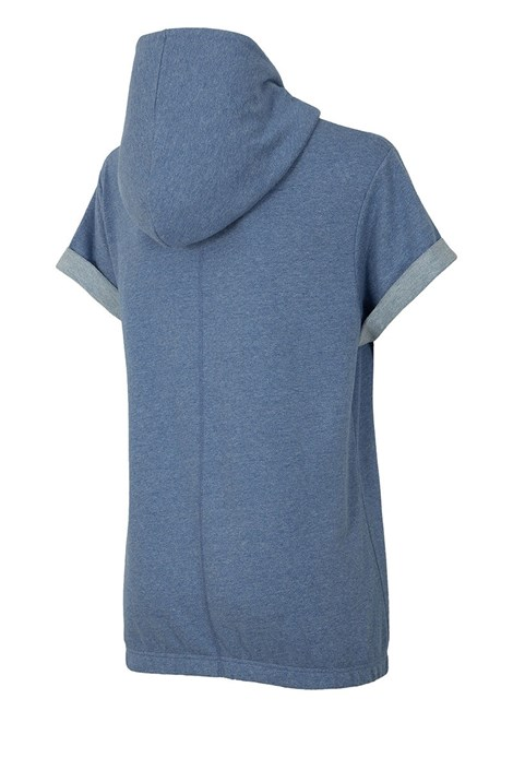 Hanorac trendy de dama Blue, maneca scurta