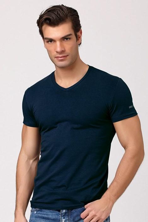 Tricou barbatesc Enrico Coveri ET1501 Jeans, din bumbac