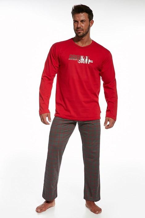 Pijama barbateasca Origin Red din bumbac