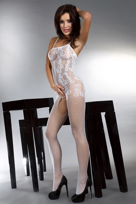 Bodystocking Orrienne - alb