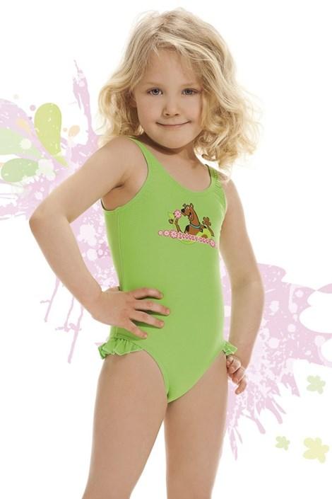 Costum de baie fetite Smiling verde