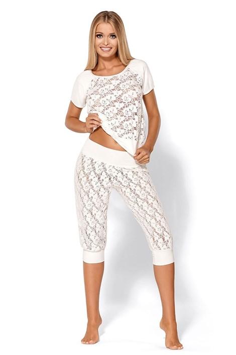 Pijama seducatoare de lux Thelma Ecru