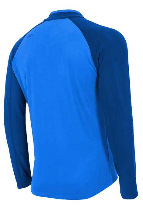 Bluza barbateasca Blue 4F, din material fleece