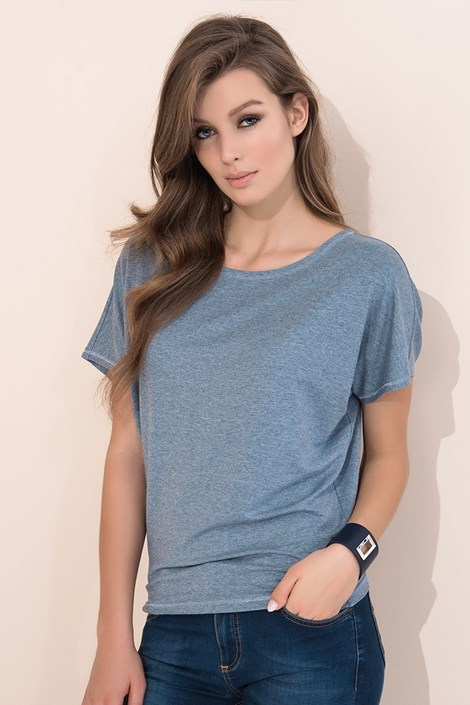 Tricou monocromatic Zafira Grey