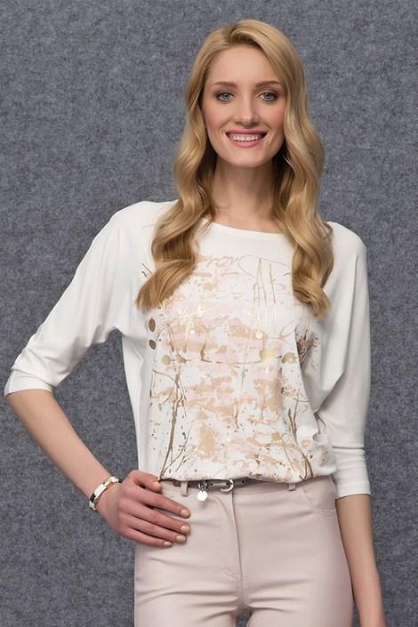 Bluza cu imprimeu auriu Arena White