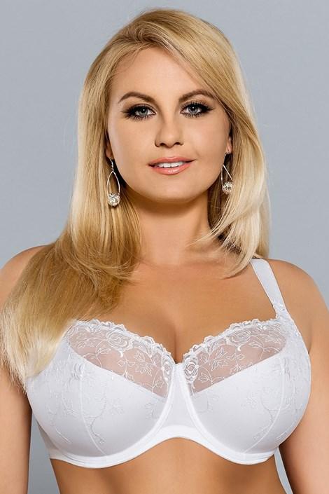 Sutien Stefania White semi-intarit