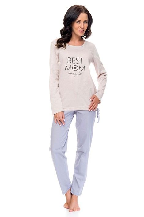 Pijama dama Best Mom, din bumbac