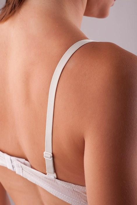 Bretele textile 10 mm albe