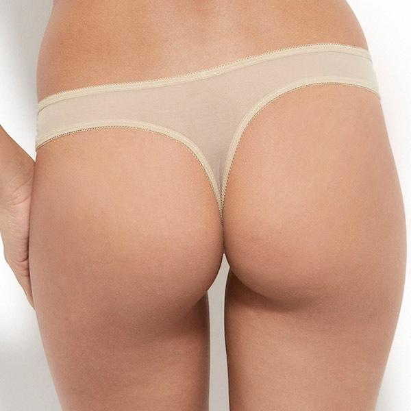 Gossard Tanga Gossard Glossies Nude dantelat