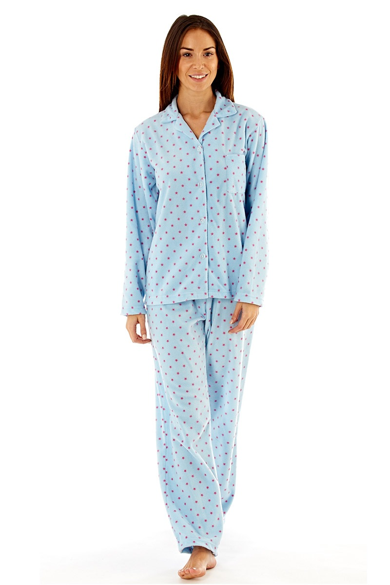 Pijama Elena Blue Material Fleece