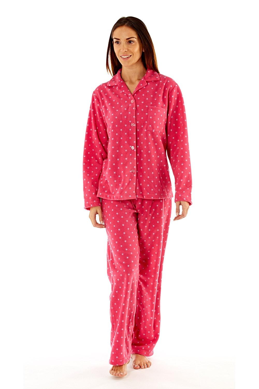 Pijama Dama Elena Pink Material Fleece