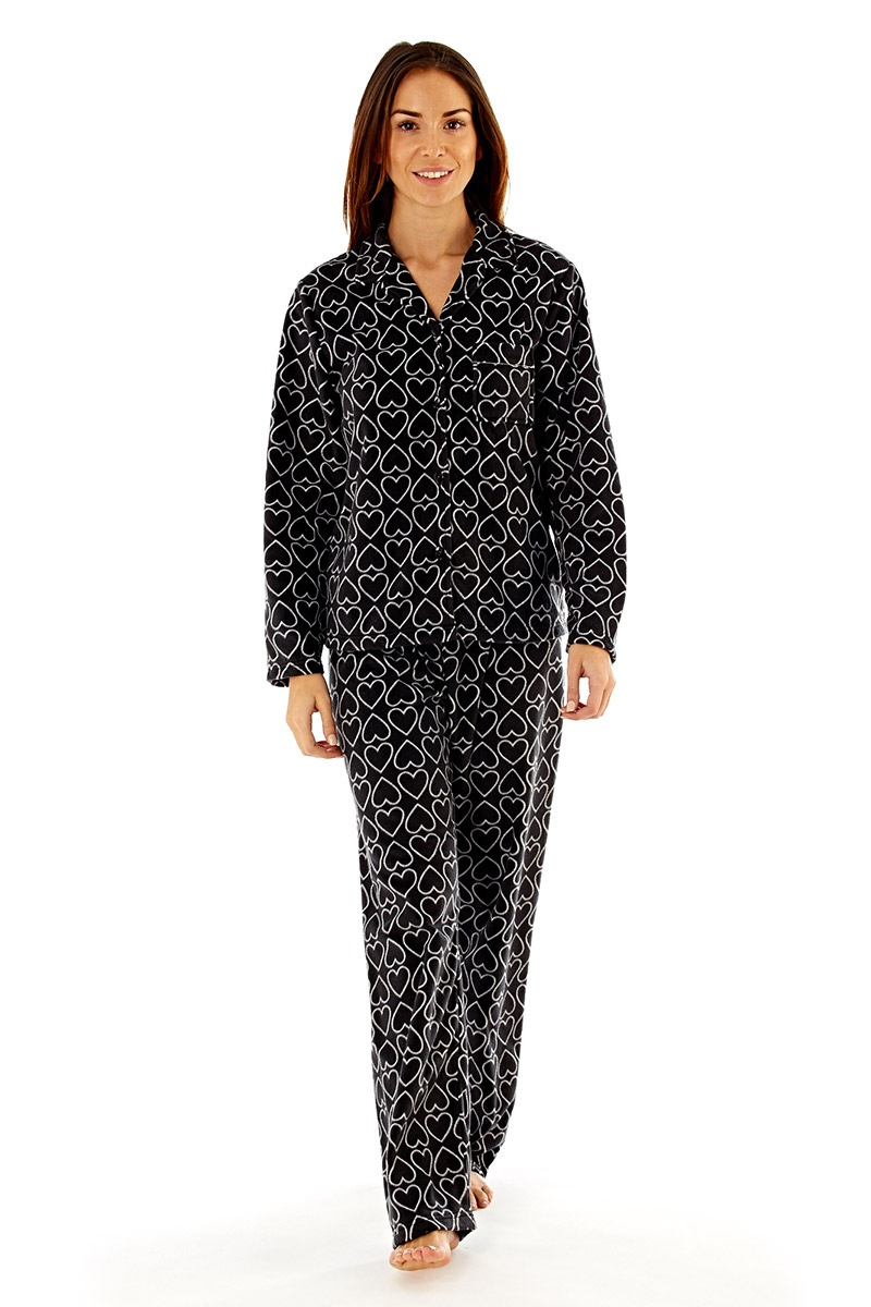 Pijama Dama Jennifer Black Material Fleece