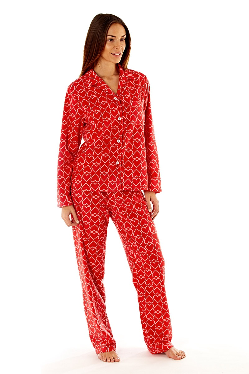 Pijama Dama Jennifer Red Material Fleece