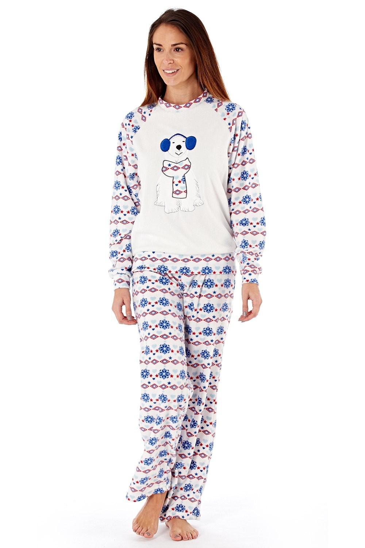 Pijama dama Polar Bear material fleece