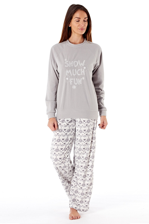 Pijama dama Show much fun material fleece