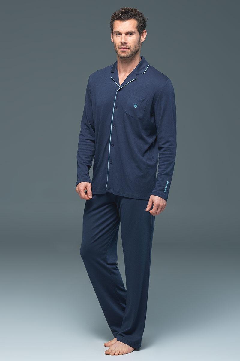 Blackspade Pijama barbateasca Lion Navy – modal