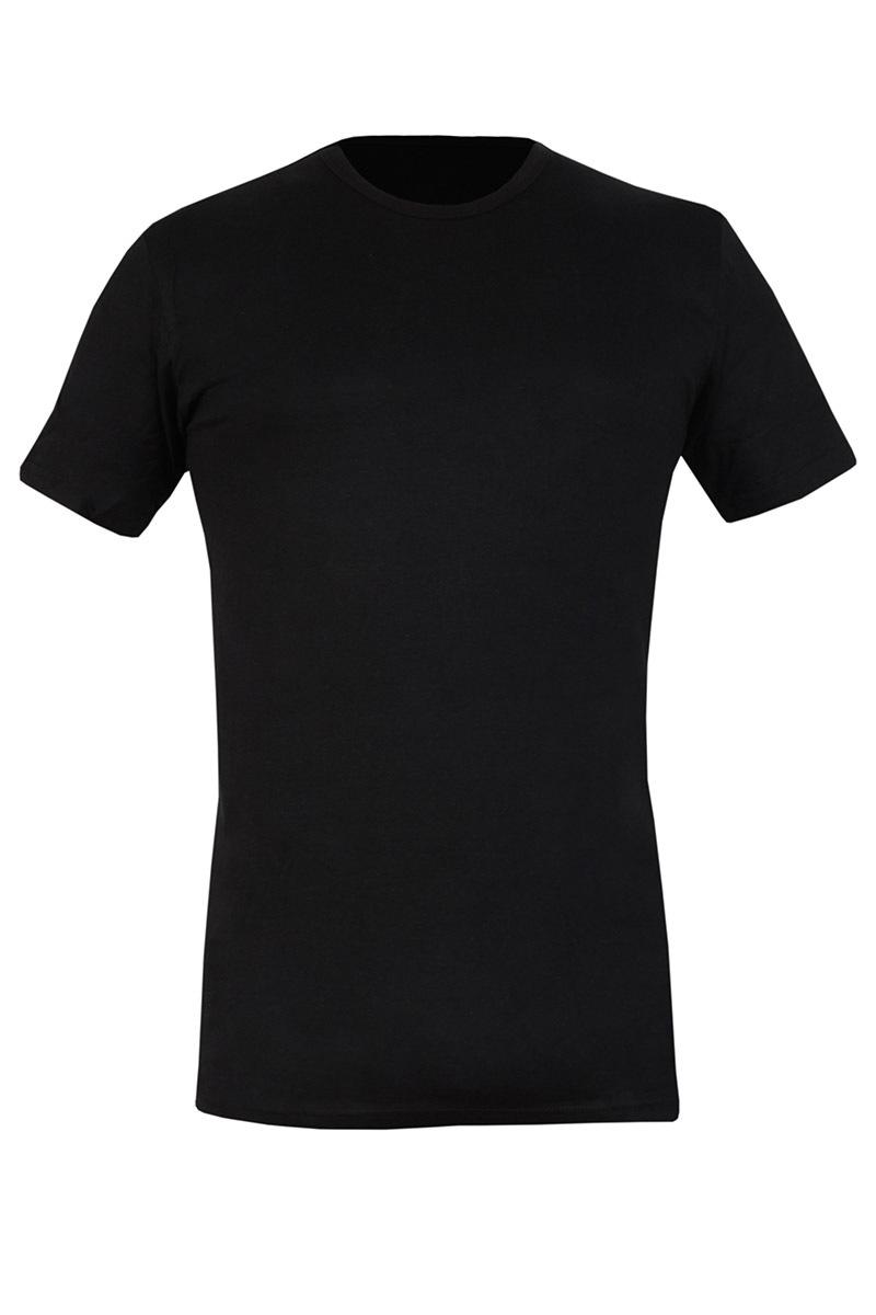COTONELLA Tricou barbatesc 090 negru din bumbac