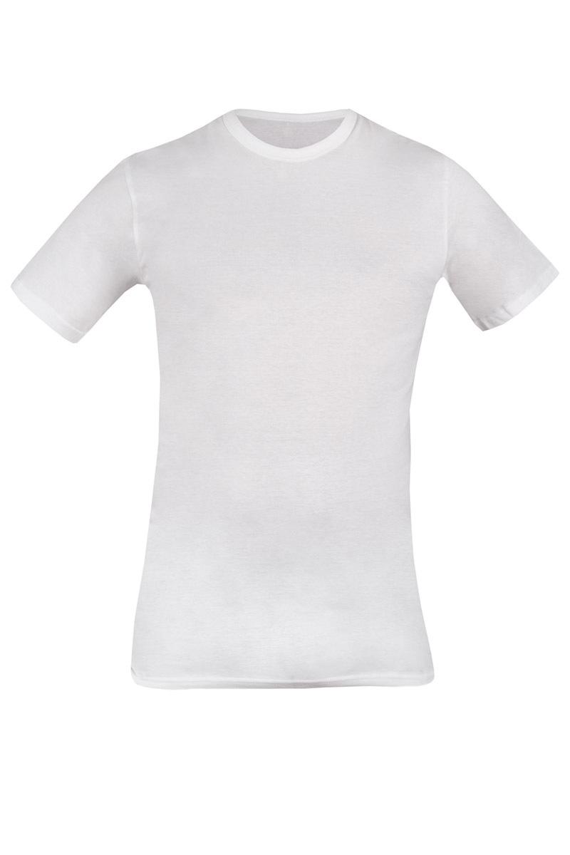 Tricou barbatesc 090 alb din bumbac